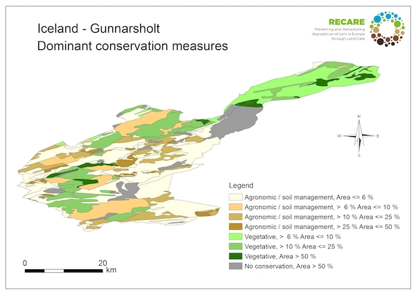 Iceland Gunnarsholt dominant conservation measuresS