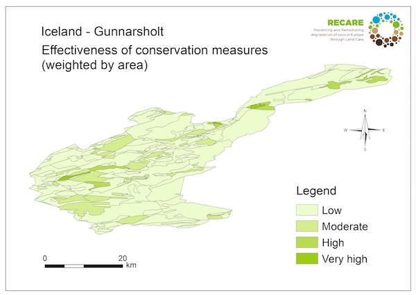 Iceland Gunnarsholt effectiveness of conservation measuresS