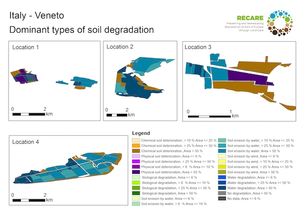 Italy Veneto dominant types of soil degradationS
