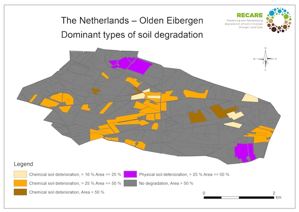 The Netherlands Olden Eibergen dominant types of soil degradationS