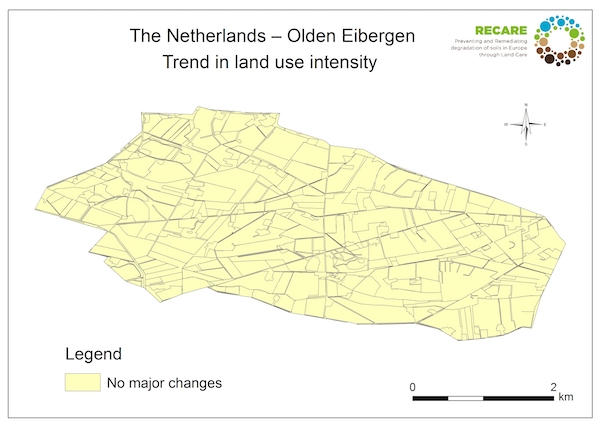 The Netherlands Olden Eibergen trend in land use intensityS