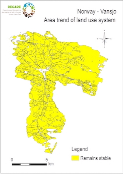 Norway Vansjo area trend land use systemS