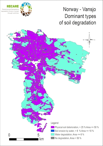 Norway Vansjo dominant types of soil degradationS