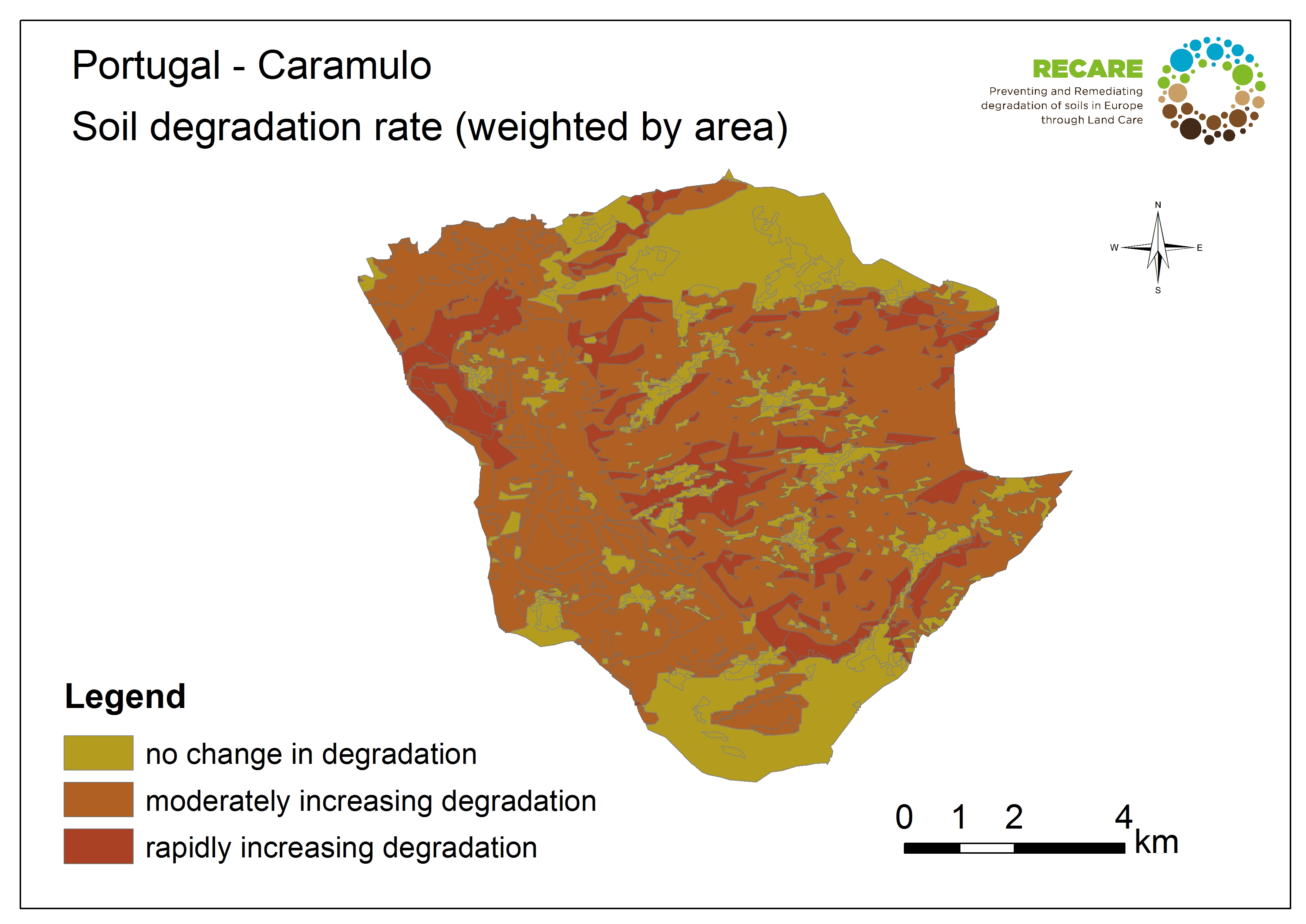 Portugal Caramulo rate of degradation