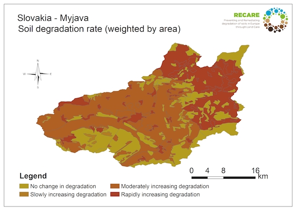 Slovakia Myjava rate of degradationS