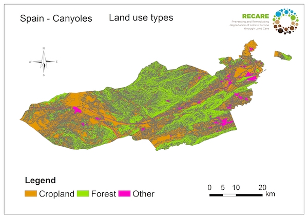 Spain Canyoles land use typesS