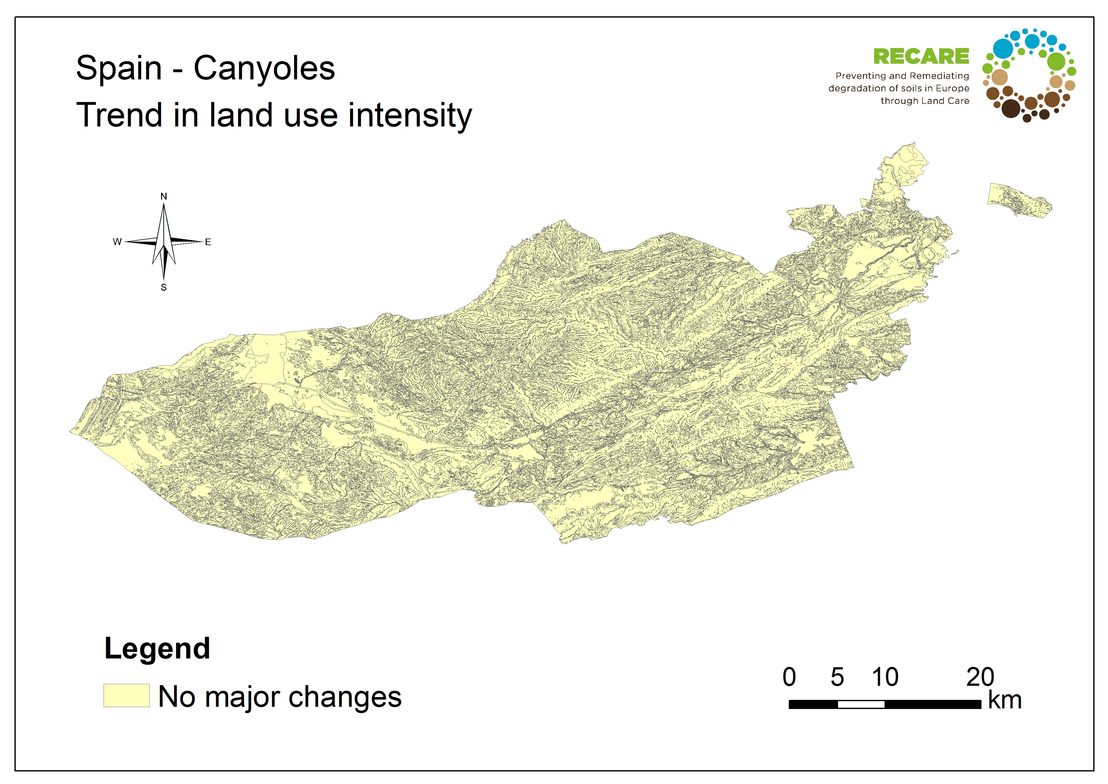 Spain Canyoles trend in land use intensityS