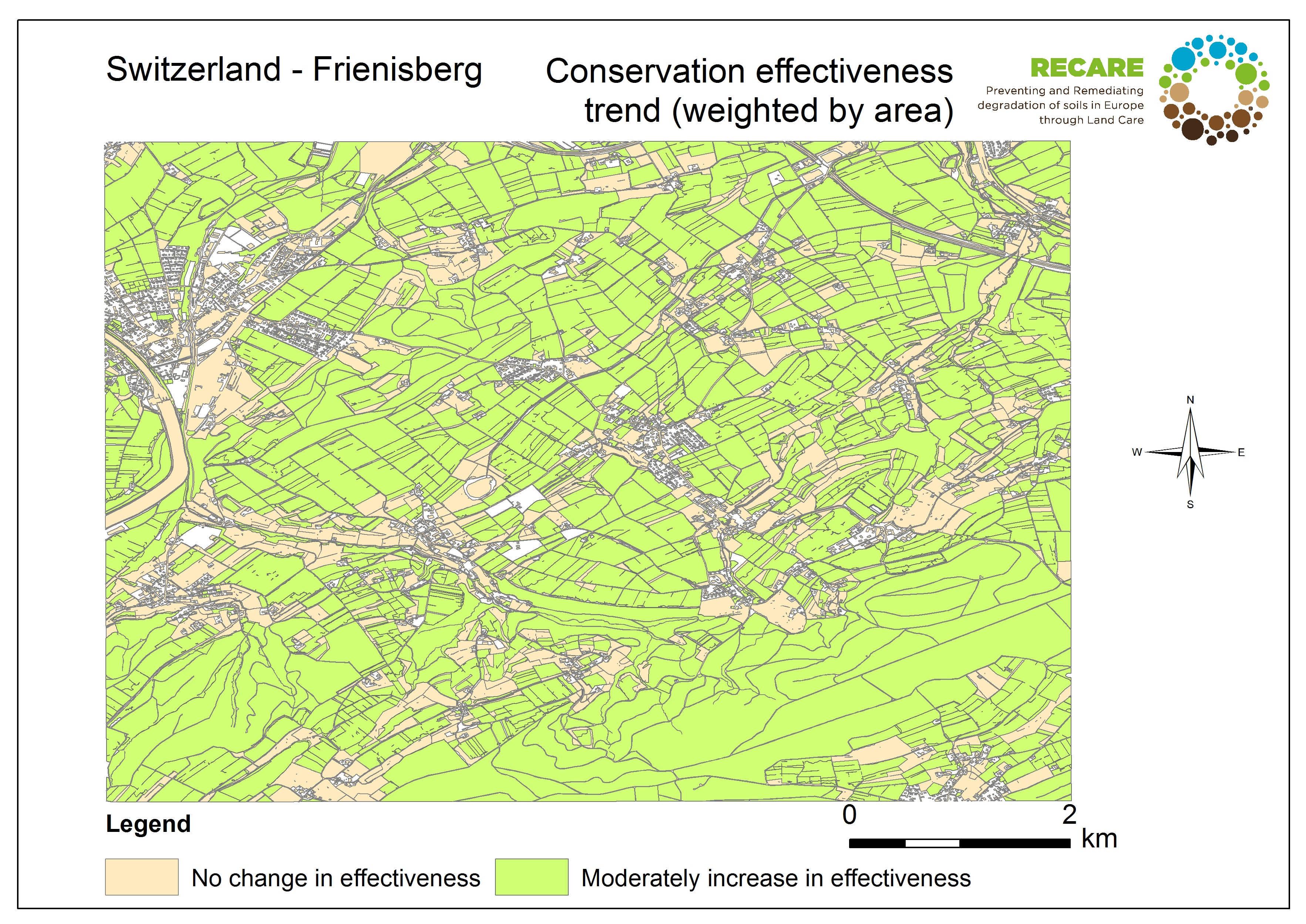 Switzerland Frienisberg conservation effectiveness trend
