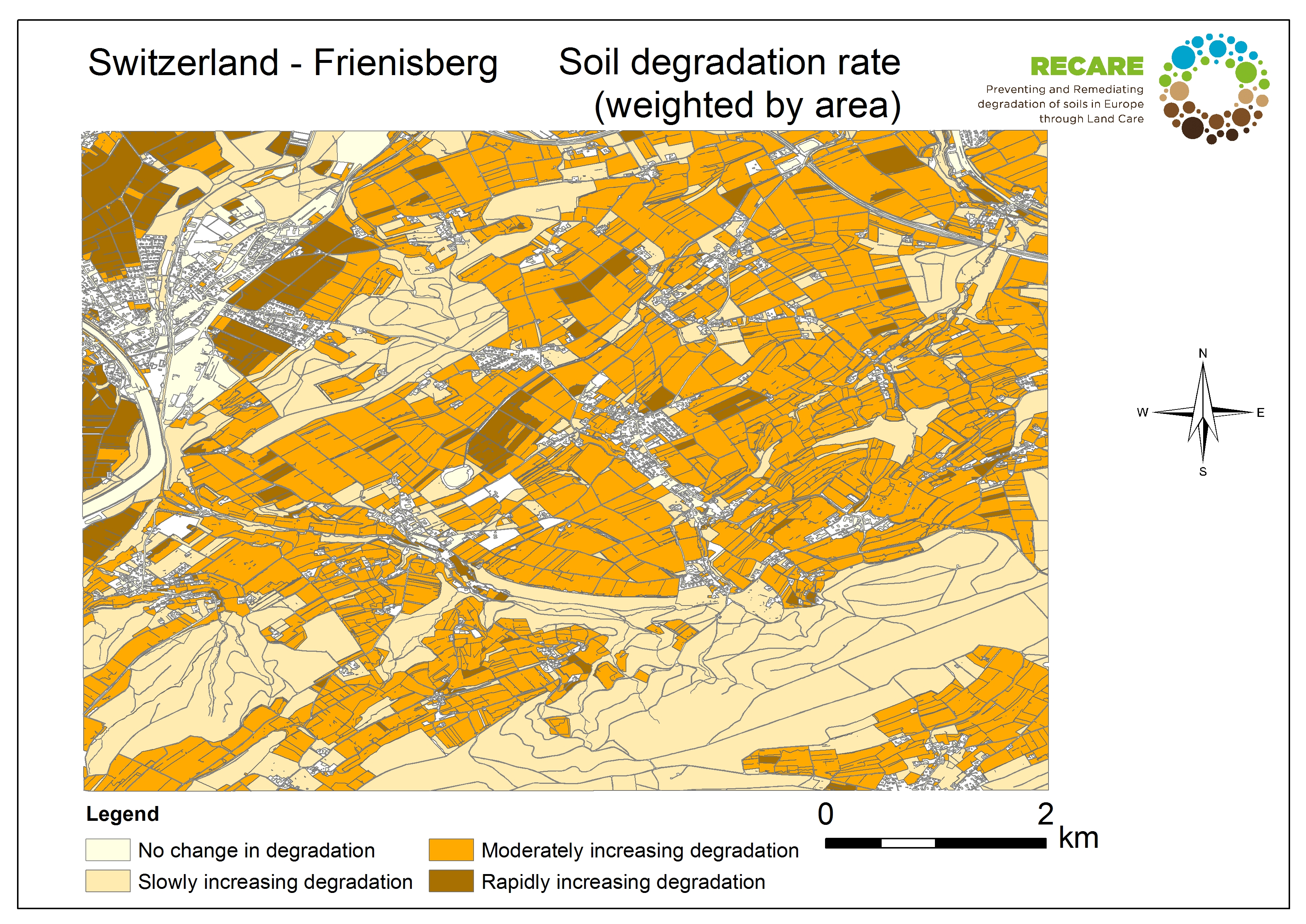 Switzerland Frienisberg rate of degradation
