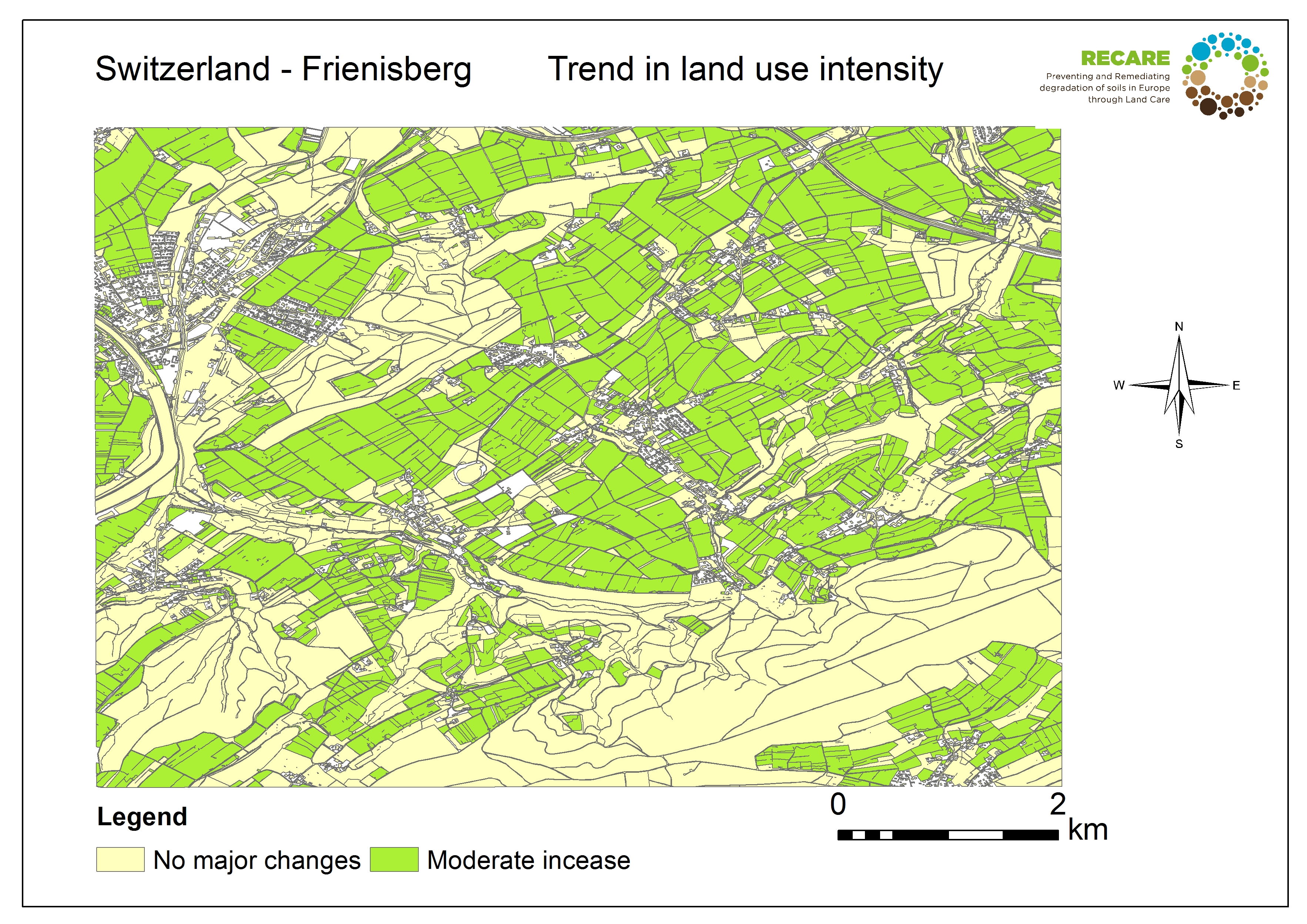 Switzerland Frienisberg trend land use intensity