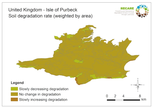 United Kingdom Isle of Purbeck rate of degradationS