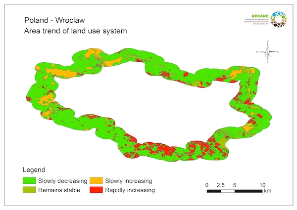Poland Wroclaw area trend land use systemS
