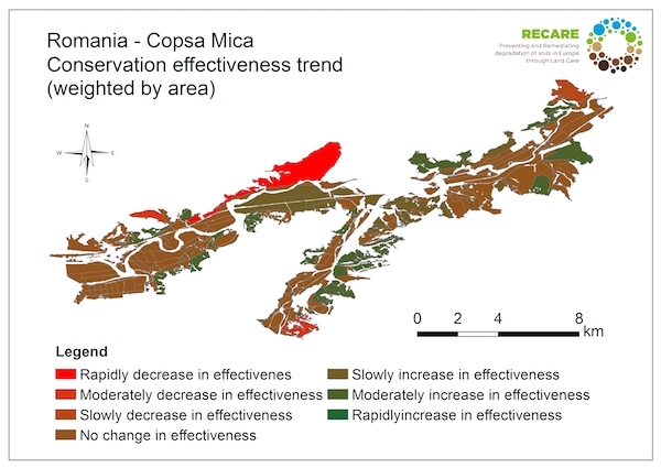 Romania Copsa Mica conservation effectiveness trend