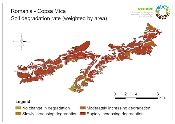 Romania Copsa Mica rate of degradationS