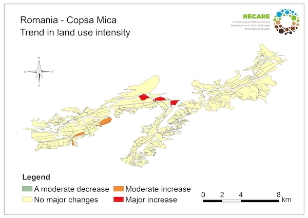 Romania Copsa Mica trend in land use intensityS