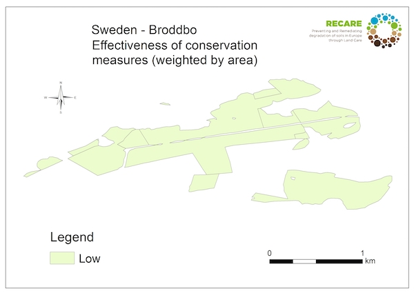 Sweden Broddbo effectiveness conservation measuresS
