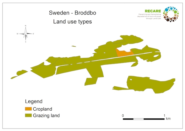 Sweden Broddbo land use typesS